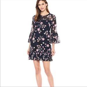 Eliza J Floral Bell Sleeve Shift Dress NWT 046